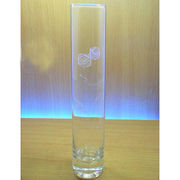 Hand-made straight glass vase from China (mainland)