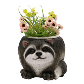 Resin Raccoon Flower Pots Statue from China (mainland)