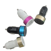 Custom Colorful 3.1A Dual usb ports car chargers from China (mainland)