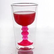 Borosilicated double wall glass cup
