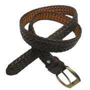 Hand Braided Genuine Leather Belt from China (mainland)
