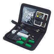 Network tools kits with crimping tool, wire stripper, cable tester