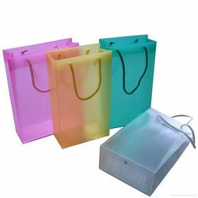 China PVC plastic shopping bags