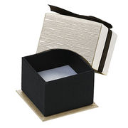 Black Faux Leather Jewelry Ring Box from China (mainland)