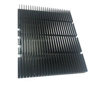 black anodizing heatsink extruded 6063 aluminum he from China (mainland)