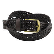 Men's braided leather belt from China (mainland)