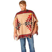 Rainbow Color Adult Men's Mexican Ponchos from China (mainland)