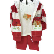Baby hooded top/bottom set from China (mainland)