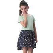 Girls' Short-sleeved Dress from China (mainland)