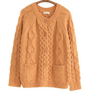 Hong Kong SAR New women's knitted sweater, made of acrylic, high quality, customized and stock welcomed