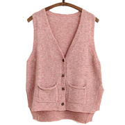 Women's knitted sweater vest