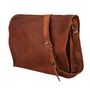 Handmade goat leather vintage satchel bag Manufacturer