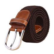 New Design Brown Men's Braided Belt from China (mainland)
