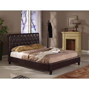 Leather sleigh bed from China (mainland)