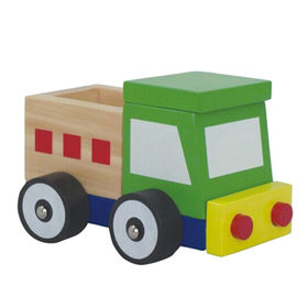 Mini wooden toy trailer truck toy from China (mainland)