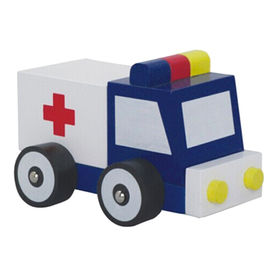 Wooden ambulance toy car from China (mainland)