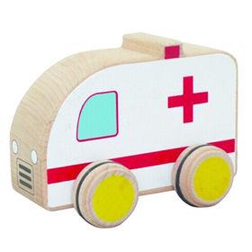 Mini cartoon wooden toy ambulance car Manufacturer