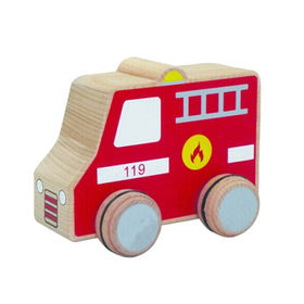 Exquisite mini wooden fire truck toy from China (mainland)