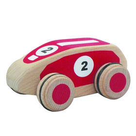 Red mini wooden toy development car from China (mainland)