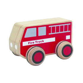 Mini Cartoon Wooden Fire Truck Toy from China (mainland)