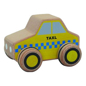 China Cute wooden taxi car toy