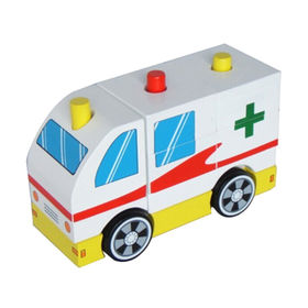 DIY mini wooden ambulance car Manufacturer