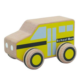 Small wooden toy school bus from China (mainland)