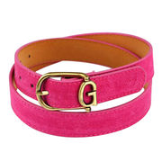 Personalized Ladies' Imitation Suede Leather Belts from China (mainland)