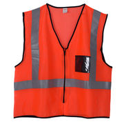 fluo orange mesh safety vest from China (mainland)