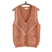 Newly knitted women sweater vest from Hong Kong SAR