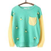 Hong Kong SAR Top nuevamente hecho punto del suéter de las mujeres, moda de los jóvenes, jersey casual, damos la bienvenida modificado para requisitos particulares