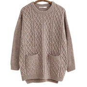 Knitted women sweater with pocket from Hong Kong SAR