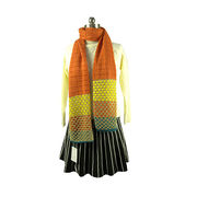 rainbow Scarf, Made of acrylic/lurex from Hangzhou Willing Textile Co. Ltd