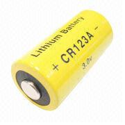 Hong Kong SAR CR123A - 3V Lithium Cylindrical Battery with 1,400mAh Nominal Capacity, for Home Security System
