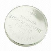 CR2032 3V Lithium/Manganese Dioxide Button Cell with 210mAh Nominal Capacity, for Car Alarm System from Power Glory Battery Tech (HK) Co. Ltd