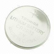 CR2032 3V Lithium/Manganese Dioxide Button Cell with 210mAh Nominal Capacity, for Car Remote Control from Power Glory Battery Tech (HK) Co. Ltd
