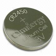 CR245 Lithium/Manganese Dioxide Button-cell Battery w/ 3V Nominal Voltage, for Smoke Detector from Power Glory Battery Tech (HK) Co. Ltd