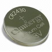 3V Lithium Dioxide Button-cell Battery with 1mA Maximum Continuous Current, for Car Security System from Power Glory Battery Tech (HK) Co. Ltd