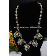 Wholesale Flower Costurme Crystal Pendant Necklace Hot Whole, Flower Costurme Crystal Pendant Necklace Hot Whole Wholesalers