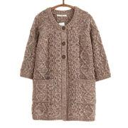Hong Kong SAR La rebeca de moda con la buena ejecución, lana casual de las nuevas señoras mezclada top, puede ser modificada para requisitos particulares
