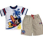 Short-sleeved T-shirts + woven short pants from China (mainland)