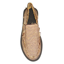 Men's Casual Printed Linen Flat Shoes from China (mainland)