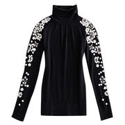 New lady highneck wool blend knitted sweater from Hong Kong SAR