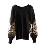 New fashion women sweater sleeve embroidery round Manufacturer