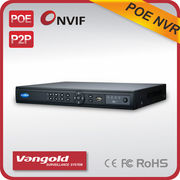 China 16CH 1080P PoE NVR, 8CH PoE 1080P Real-time, P2P and Onvif, Cloud Storage and 2 SATA HDD