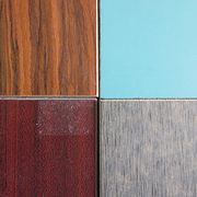 Fireproof wood grain decorative HPL laminated MGO board