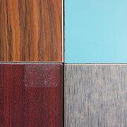 Decorative wood grain HPL laminated MGO board