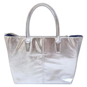 China Silver debossed PVC promotional tote bags
