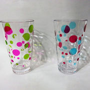Taiwan Unbreakable Tritan Acrylic Plastic BPA-free PC AS Colorful Shatter-proof Stackable Drinking Glasses