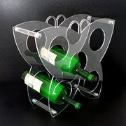 Taiwan Acrylic collapsible KD red wine and champagne bottle display rack with flat package